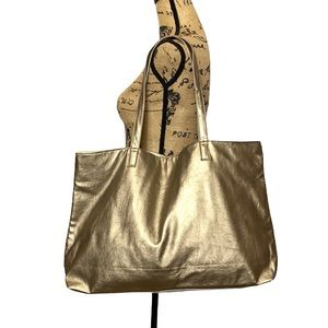 Sephora Gold Large Shoulder Tote Bag Magnetic Closure and one Inside Ope…